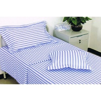 医院用床单被罩三件套医院床单被套枕套三件套蓝白条白色加厚y 其它