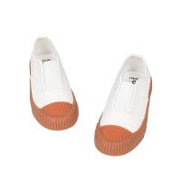 【6折价:161.46元】马拉丁童装男女大童布鞋春装2020年新款百搭帆布鞋小白鞋板鞋