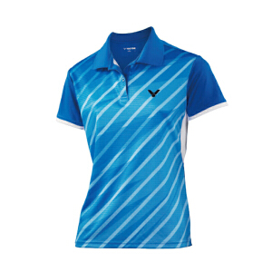 VICTOR/胜利 女款针织短袖POLO杉 S-3104 羽毛球运动上衣运动T恤