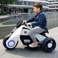 儿童电动三轮车摩托车男孩女宝宝双驱小孩玩具汽车可坐人充电大号