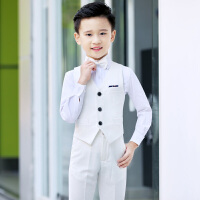 儿童钢琴小主持人演出服花童马甲走秀服夏季男童礼服套装英伦风服装