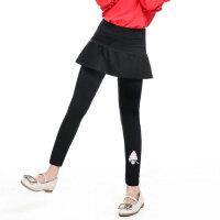儿童打底裤 女童棉质外穿打底裤2020秋季新款弹力女孩中大童假两件韩版裙裤长裤