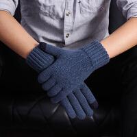 触屏手套男士冬季针织毛线加厚保暖加绒骑车防寒玩手机游戏韩版
