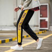 【249元2件】森马旗下潮牌GLEMALL 新款男裤秋季撞色弹力印花时尚个性长裤
