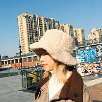 帽子女秋冬季韩版百搭加厚泰迪渔夫帽甜美可爱少女冬天英伦复古帽