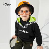 【4折�A估�r:77.6元】迪士尼男童�B帽�l衣2020新款春秋�b�和������r尚洋�庑蓍e外套潮