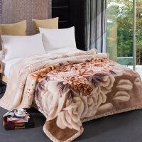 双层拉舍尔毛毯被子加厚冬季保暖双人珊瑚绒毯子仿羊羔绒法兰绒8斤y