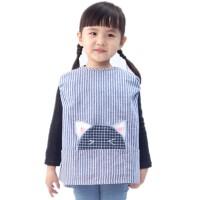 儿童罩衣宝宝无袖防水画画衣罩衫四季幼儿园小孩吃饭衣反穿衣