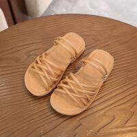 童鞋中大童凉鞋夏季女童鞋子编织凉鞋 两穿拖鞋