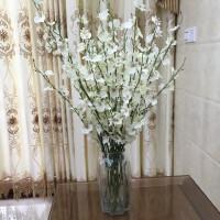 黄色跳舞兰仿真花束塑料花假花套装室内装饰花干花客厅摆件花艺抖音