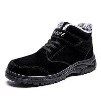 冬季加绒加厚老人棉鞋女健步鞋滑软底妈妈鞋中老年运动鞋雪地