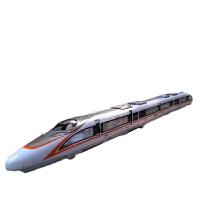 复兴号火车模型仿真和谐号动车高铁回力声光合金磁性加长火车玩具 双节复兴号橘色 送轨道3片