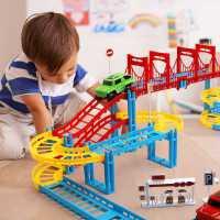电动轨道车赛车跑道儿童玩具益智赛道拼装汽车小火车男孩3-6岁4-5
