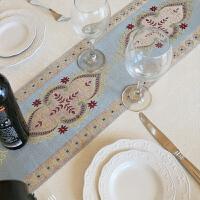 时尚简约镶边布艺台布餐桌布茶几桌布盖布可定制