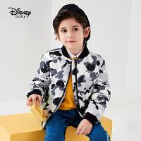 618【2件4折:183.6元】迪士尼男童棉服秋冬童装儿童宝宝加绒短款棉袄洋气卡通上衣潮