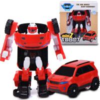 托宝兄弟 玩具变形机器人变形金刚汽车人动漫模型男孩玩具2代 托宝Z() 升级款
