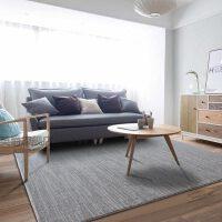 纯色风格客厅沙发茶几地毯灰色家用卧室新中式美式短毛茶几垫
