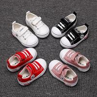 宝宝鞋子男童学步鞋1-2-3岁软底女童帆布鞋2019春夏新款小童单鞋