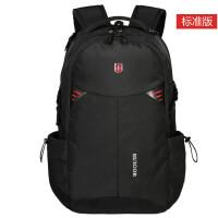 男士双肩包商务中学生书包男女旅行包电脑包背包双肩休闲