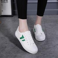 小白鞋女帆布鞋子春季韩版百搭学生平底板鞋
