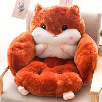 办公室美臀坐垫靠垫一体秋冬椅子垫加厚加宽垫子冬季座垫连体