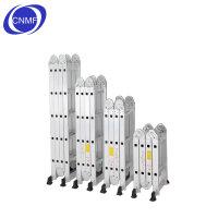 谋福多功能关节梯 铝合金折叠梯 家用梯 A字型 桥型 一字型 M型 DX-4*3