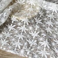 棉刺绣水溶蕾丝布料 面料手工 网纱/婚纱/拍摄背景 半米