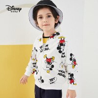 【今日3折�A估�r:54.4元】迪士尼男童外套秋款�r尚�B帽卡通休�e拉�衫�和�上衣