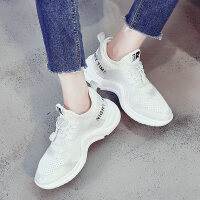 网面内增高女款2018新款运动女鞋网红健身透气跑步鞋夏秋季韩版