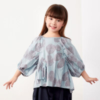 【秒杀价:180元】马拉丁童装女大童衬衫2020夏装新款灯笼袖抽褶设计中袖衬衫