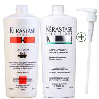 Kerastase/卡诗 双重功能洗发水1000ml+蛋白护发素1000ml 进口专业洗护发 控油洗护套装