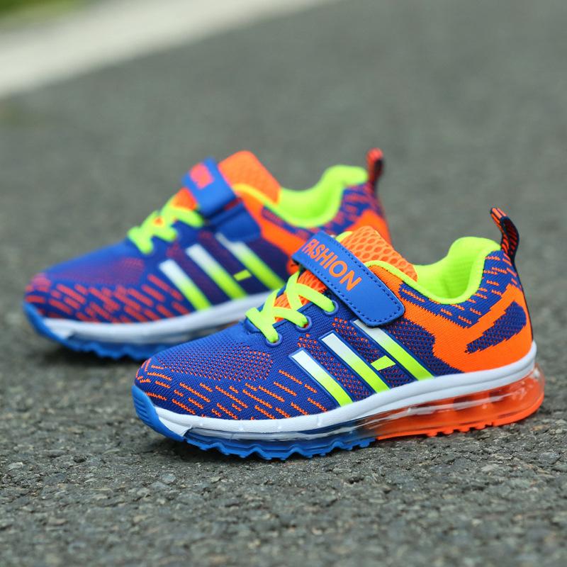 男童鞋百搭针织透气女童跑步鞋气垫鞋中大童儿童鞋男童运动鞋
