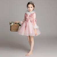 女童礼服生日公主裙花童婚纱蓬蓬纱儿童钢琴演出服
