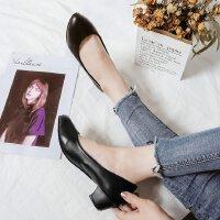 三厘米高跟鞋3cm女粗跟舒适工作正装学生单鞋工作酒店单鞋皮鞋ol