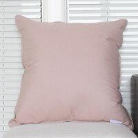 素色靠垫纯色沙发抱枕简约办公室靠枕大号床头靠背椅子汽车护腰枕 卡其色 45x45cm