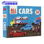 英文原版绘本 Twirl All About Cars 精装 翻翻操作书 幼儿 SETAM 科普启蒙 3-6岁 汽车主