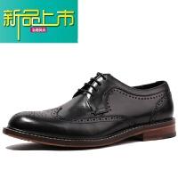 新品上市优0英伦风商务正装德比真皮鞋男士雕花休闲固异手工鞋