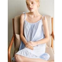 吊带纯棉睡裙女夏季性感睡衣裙全棉公主风可爱少女家居服薄款