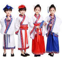 国学汉服小学三字经经典诵读服装 儿童汉服男童古装儿童演出服