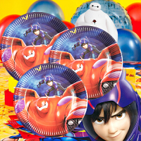 孩派 儿童生日派对装饰 派对布置用品道具 超能陆战队 大白主题