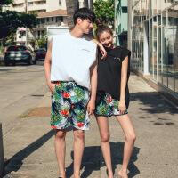 沙滩情侣装夏装套装女海边度蜜月无袖T恤背心旅行衣服三亚普吉岛
