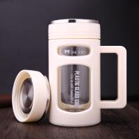 �p�硬璞�男女水杯子家用玻璃塑料水杯��s便�y玻璃茶杯��意水杯LOGO玻璃杯子 300ML-600ML