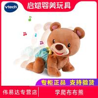 VTech伟易达学爬布布熊婴幼儿学走引导玩具宝宝学爬行小熊玩偶