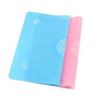 (HONGTUZI) 耐高温硅胶垫大号加厚防滑圈带刻度揉面垫烤盘垫 烘焙工具 粉色