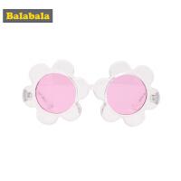 巴拉巴拉儿童眼镜太阳镜女童韩版时尚花朵墨镜潮公主玩具护目镜女