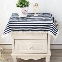 桌子布空调洗衣机盖布韩式床头柜防尘罩田园蕾丝电视盖布巾餐桌布定制