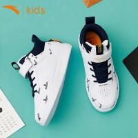 安踏童鞋19年秋季新款板鞋中大童运动鞋史努比限量联名款休闲鞋潮流时尚滑板鞋兄妹款鞋子 A33938005