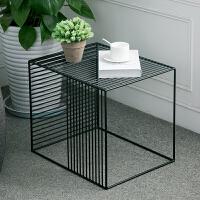 现代简约茶几边几边桌 铁艺边几时尚简约现代茶几沙发角几创意美式小方桌金属边桌置物架