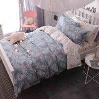 纯棉床单床上三件套学生宿舍被套单人女寝室大学风床品0.9m米定制