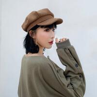贝雷帽女韩版潮ins帽子百搭八角帽休闲英伦复古画家帽时尚八角帽